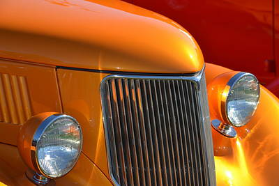 Photograph - Orange Hotrod by Dean Ferreira