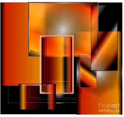 Digital Art - Orange by Iris Gelbart