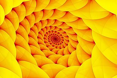 Digital Art - Yellow Pillow Vortex by Doug Morgan