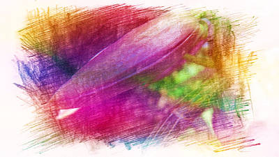 Painting - Orchid Buds In Abstract  by Xueyin Chen