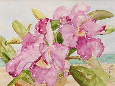 Painting - Orchid On The Beach by Bobbin