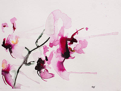 Orchids Painting - Orchid Study IIi by Karin Johannesson