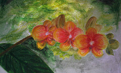 Painting - Orchids At Four Arts Garden by Donna Walsh