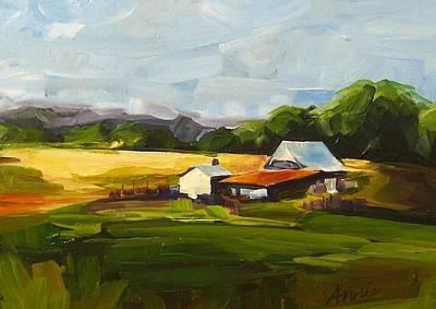 Wildlife Landscape Painting - Oregon Landscape by Annie Salness