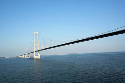 Malmo Photograph - Oresund Bridge by Adam Hart-davis