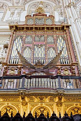 Organ In Cordoba Cathedral Art Print by Artur Bogacki