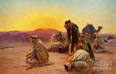 Camels Painting - Orientalist Paintings by Celestial Images