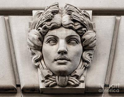 Ornamental Carved Stone Face - Washington Dc Art Print by Gary Whitton