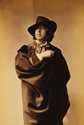 Irish Photograph - Oscar Wilde by Napoleon Sarony