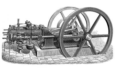 Horsepower Photograph - Otto Gas Engine by Science Photo Library