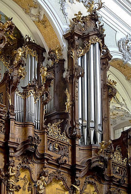 Photograph - Ottobeuren Abbey Organ by Jenny Setchell