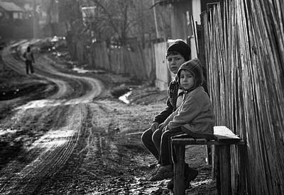 Benches Photograph - Our Childhood by Julien Oncete