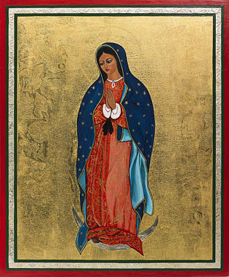 Egg Tempera Painting - Our Lady Of Guadalupe I by Ilse Wefers