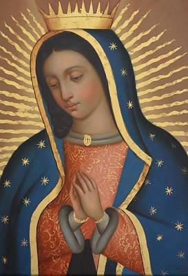 Virgen Mary Painting - Our Lady Of Guadalupe by Jose antonio Robles
