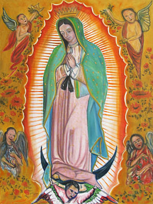 Our Lady Of Guadalupe Original by Pacifico Palumbo
