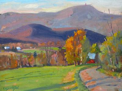 Berkshire Hills Painting - Out Back by Len Stomski