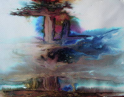 Art Print featuring the painting Out Of The Mist by Mary Sullivan