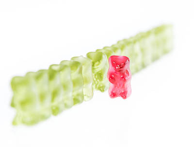 Gummi Candy Photograph - Out Of The Row by Handmade Pictures