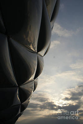 Photograph - outer skin of the Munich soccer arena by Rudi Prott