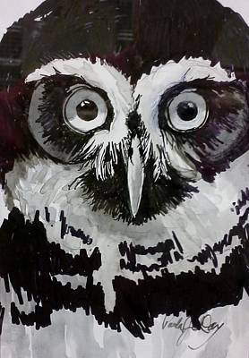 Painting - Owl Eyes by Paula Day