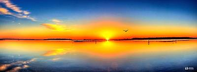 Photograph - Oyster Landing Sunrise by Ed Roberts