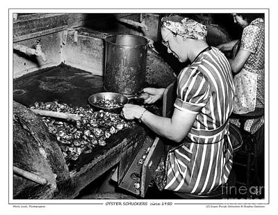 Photograph - Oyster Shuckers by Merle Junk