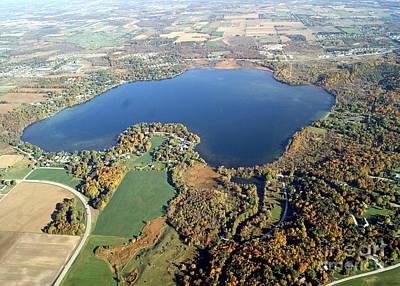 Photograph - P-030 Pike Lake Hartford Wisconsin Fall by Bill Lang