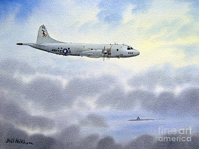 Painting - P-3 Orion by Bill Holkham