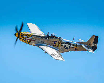 North American P51 Mustang Photograph - P-51 Mustang by Puget  Exposure