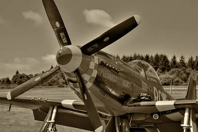Photograph - P-51 Mustang Speedball Alice by David Patterson