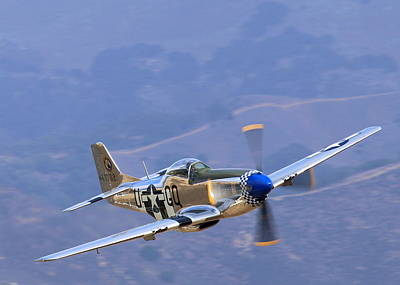 P51 Mustang Grim Reaper At Salinas Air Show Art Print