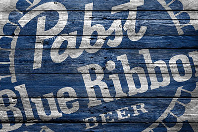 Handcrafted Photograph - Pabst Blue Ribbon by Joe Hamilton