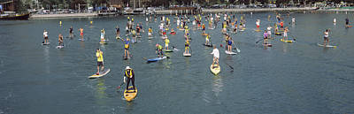 Dana Point Photograph - Paddleboarders In The Pacific Ocean by Panoramic Images