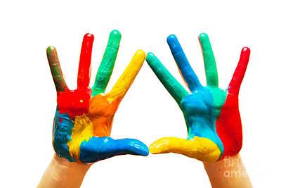 Painted Hands Art Print by Michal Bednarek