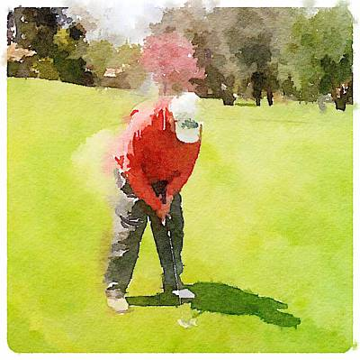 Digital Art - Golfer by Shannon Grissom
