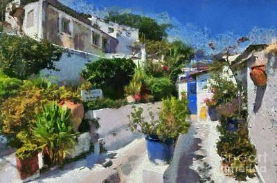Old Houses In Plaka Art Print by George Atsametakis