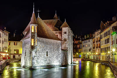 Photograph - Annecy By Night by Joshua McDonough