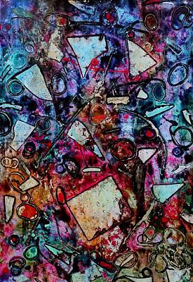 Print Mixed Media - Palimpsest  by John  Nolan