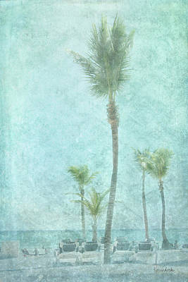 Beach Landscape Painting - Palm IIi by Ramona Murdock