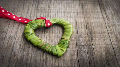 Palm Leaf Heart Print by Aged Pixel