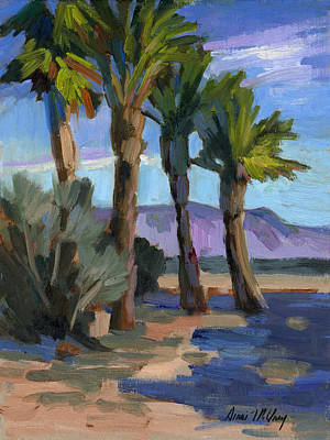 Painting - Palm Oasis At La Quinta Cove by Diane McClary