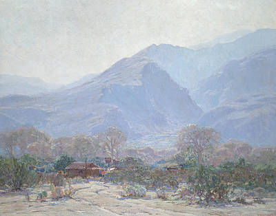 Mist Painting - Palm Springs Landscape With Shack by John Frost