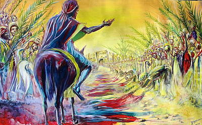 Painting - Palm Sunday by Evans Yegon