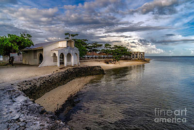Beach Huts Photograph - Pandanon Island Chapel by Adrian Evans