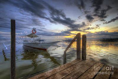 Photograph - Panglao Port Sunset 5.0 by Yhun Suarez