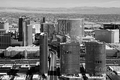 Panorama And City Center In Las Vegas Art Print