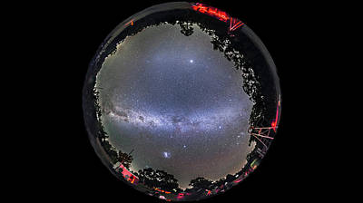 Panorama Of A Southern Hemisphere Star Art Print by Alan Dyer