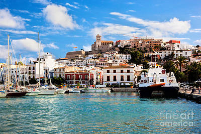 Photograph - Panorama Of Ibiza Spain by Michal Bednarek