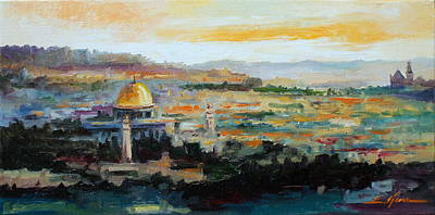 Painting - Panorama Of Jerusalem by Luke Karcz
