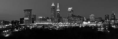 Panoramic Cleveland Art Print by Frozen in Time Fine Art Photography